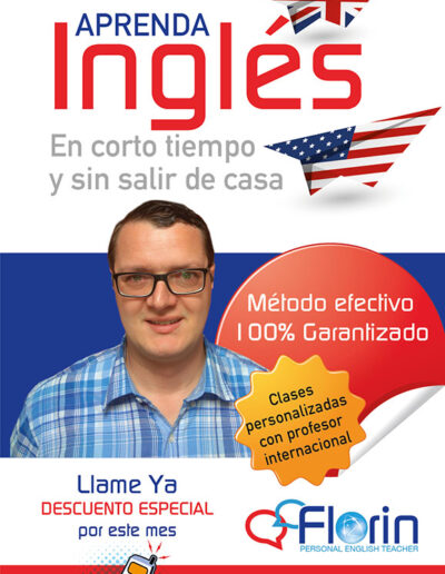 Flyer Profesor de Ingles B